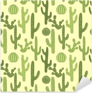 Sticker Pixerstick Seamless avec des cactus # 1