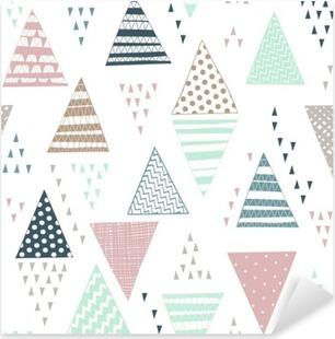 Sticker Pixerstick Seamless avec des triangles dessinés à la main décoratifs.