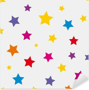 Seamless background with colored stars Pixerstick Sticker