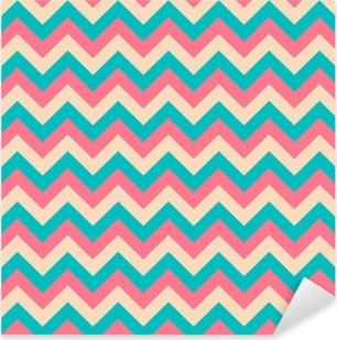 Seamless chevron pattern. Pixerstick Sticker