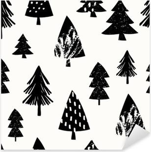 Seamless Christmas Pattern Pixerstick Sticker