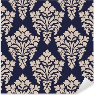Seamless damask pattern. Pixerstick Sticker