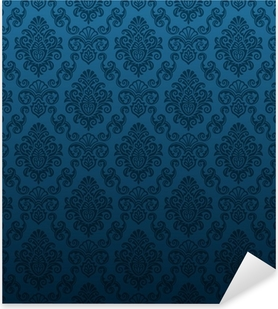 Seamless damask wallpaper Pixerstick Sticker