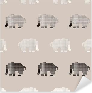 seamless elephant pattern Pixerstick Sticker