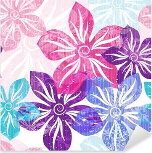 Sticker Pixerstick Seamless floral doux