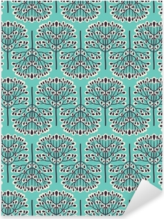 Seamless forest pattern Pixerstick Sticker