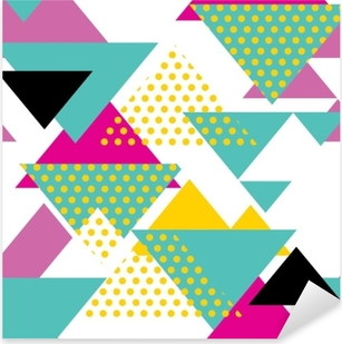 Abstract retro 80s background with geometric shapes and