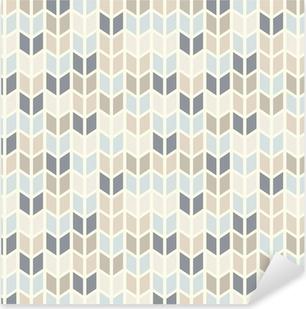 Sticker Pixerstick Seamless géométrique dans des teintes pastel