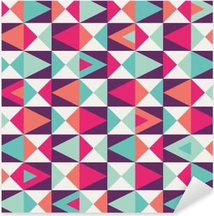 Sticker Pixerstick Seamless géométrique.