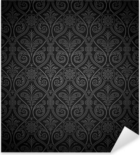 Seamless gothic damask pattern Pixerstick Sticker
