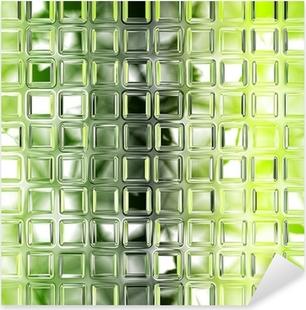 Seamless green glass tiles texture background, kitchen or bathro Pixerstick Sticker