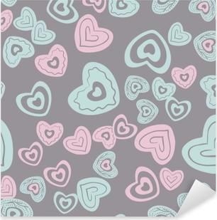 seamless heart pattern Pixerstick Sticker