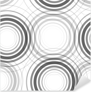 Seamless monochrome circles pattern Pixerstick Sticker