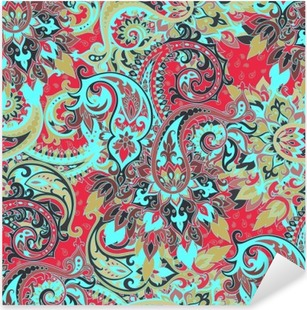 Seamless paisley pattern Pixerstick Sticker