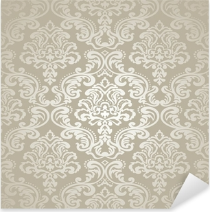 Seamless Pattern Background.Damask Wallpaper. Pixerstick Sticker