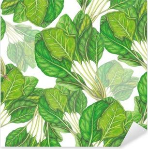 Seamless pattern of hand drawn spinach Pixerstick Sticker