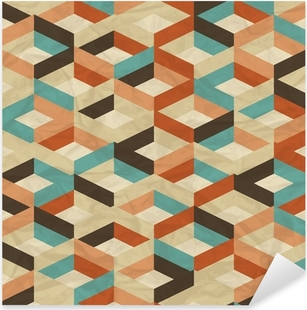 Sticker Pixerstick Seamless Pattern Retro géométrique