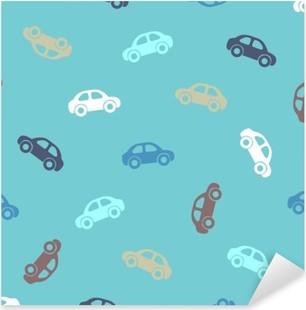 Sticker Pixerstick Seamless pattern - voitures
