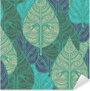Seamless pattern with leaves Pixerstick Sticker
