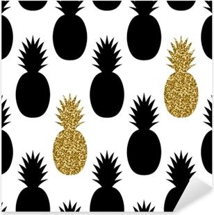 Seamless Pineapples Pattern Pixerstick Sticker