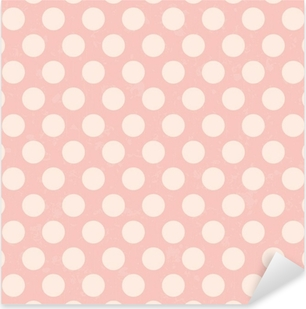 seamless polka dots grunge texture Pixerstick Sticker