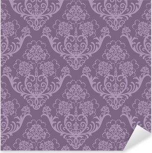 Seamless purple floral wallpaper Pixerstick Sticker