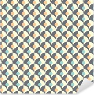 Seamless simple retro geometrical pattern of classic style Pixerstick Sticker