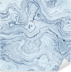 Seamless texture of blue marble pattern for background / illustration Pixerstick Sticker