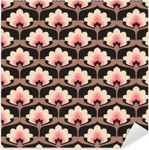 seamless vintage floral pattern Pixerstick Sticker