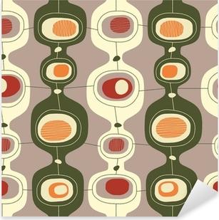 Seamless vintage pattern - Vector. Pixerstick Sticker