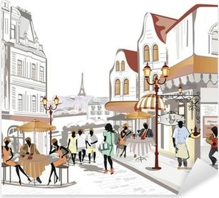Sticker Pixerstick Série de Street Views dans la vieille ville