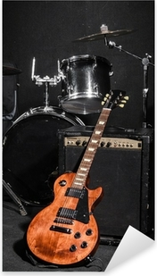 Set of musical instruments during concert Pixerstick Sticker