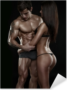Muscl guy around sexy girls holding them Sexy Couple Muscular Man Holding A Beautiful Woman Isolated On Sticker Pixers We Live To Change