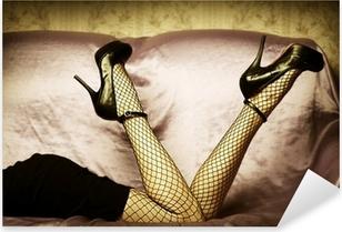 Pixerstick Sticker Sexy vrouwelijke benen in de schoenen