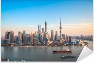 Sticker Pixerstick Shanghai Lujiazui vue panoramique