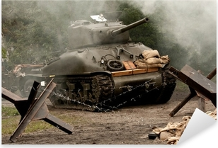 Pixerstick Sticker Sherman Tank - WW II