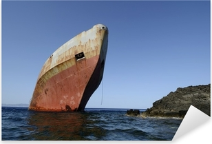 Pixerstick Sticker Shipwreck