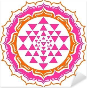 Pixerstick Sticker Shri Yantra - Lotus Blüte - Mandala