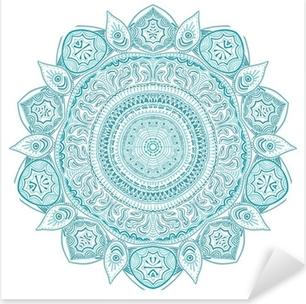 Pixerstick Sticker Sier-ronde kant patroon, cirkel achtergrond met veel detai