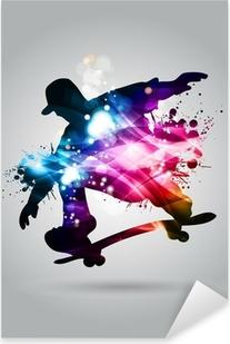 Skateboard Pixerstick Sticker