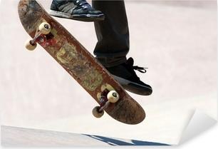 Pixerstick Sticker Skateboarder Springen Trucs