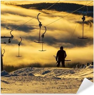 Ski resort Pixerstick Sticker