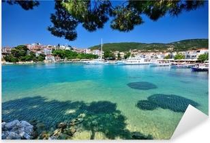 SkIathos town, Greece Pixerstick Sticker