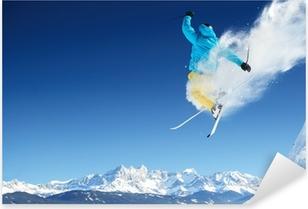 Sticker Pixerstick Skier jumping