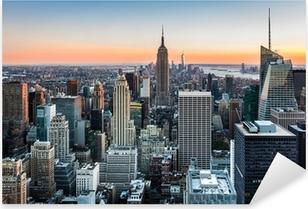 Sticker Pixerstick Skyline de New York au coucher du soleil