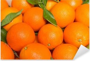 Pixerstick Sticker Smakelijke valencian sinaasappels vers verzameld