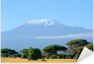 Pixerstick Sticker Sneeuw op de top van de Kilimanjaro