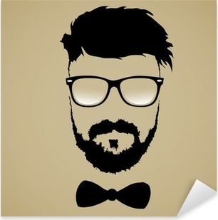 Pixerstick Sticker Snor baard bril kapsel