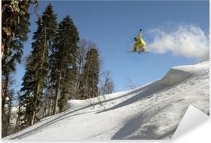 Snowboard freerider Pixerstick Sticker