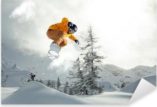 Sticker Pixerstick Snowboarder freerider